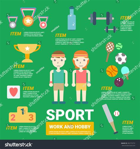 sports infographics templates sport infographics stock vector 282775772