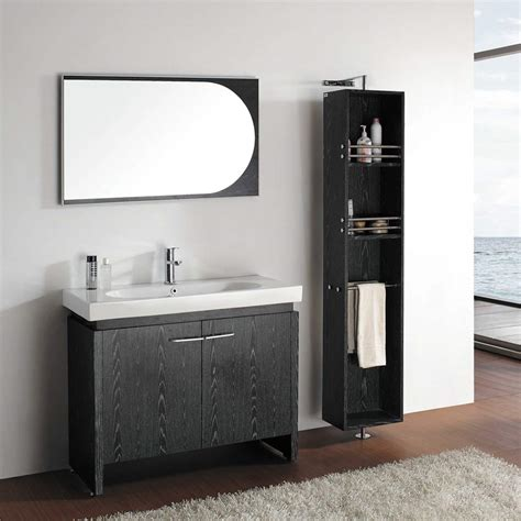bathroom vanities black 40 quot black oak single bathroom vanity emperia vm v12041 bok