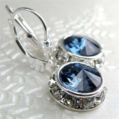 Blue Sapir Selon sapphire swarovski earrings blue rhinestone