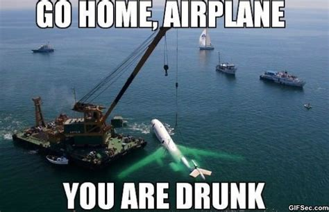 Plane Memes - funny pics 2014 go home airplane you are drunk jpg