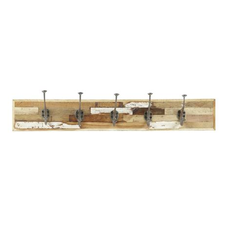 5 Hook Coat Rack by Auray 5 Hook Wood Coat Rack Maisons Du Monde