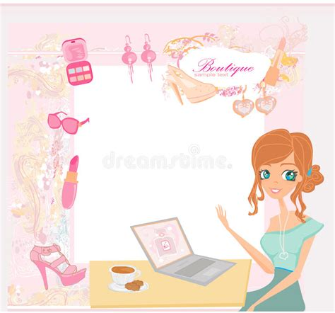 design your background online online shopping abstract background stock illustration