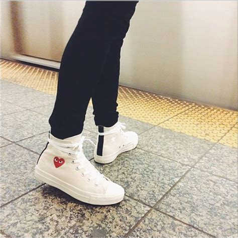 Ct 70s Polka Black Hi comme des garcons x converse style fashion
