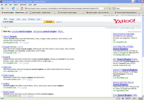 Yahoo Email Search Engine 404 Page Not Found