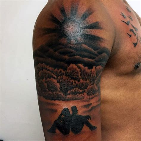 rising sun tattoo on shoulder 2017 collection
