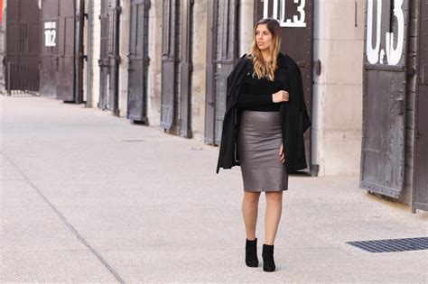 bikbok leather skirt and black boots style function