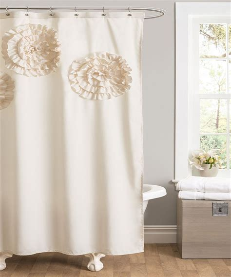 ivory shower curtains ivory flower glamour shower curtain