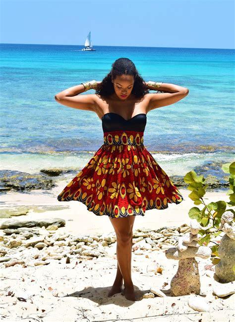 ankara high waist mini skirt
