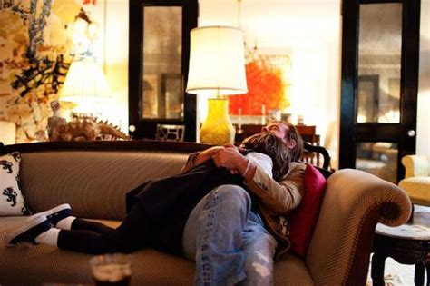 snuggling on the couch famous folk at home andy and kate spade in manhattan new