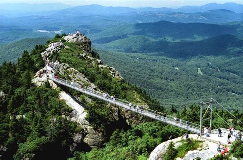 grandfather mountain mile high swinging bridge nc mountain news grandfather mountain offers a unique