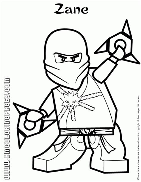 white ninjago coloring pages zane the white ninja from lego ninjago coloring page fun