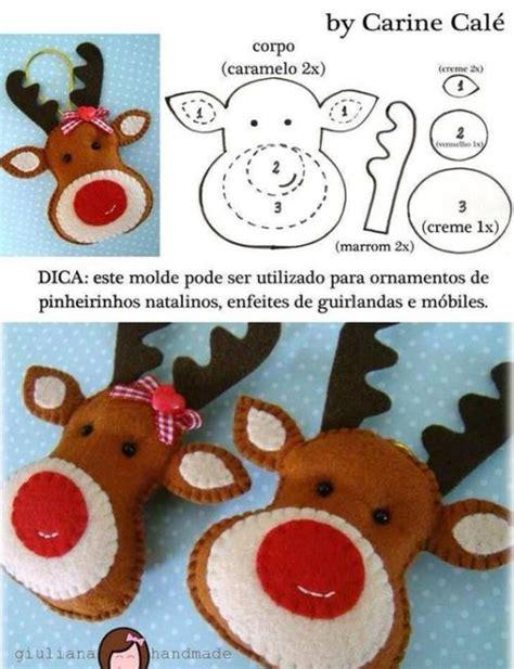 moldes de adornos fieltro para arbol 20 ideas de manualidades de navidad con fieltro