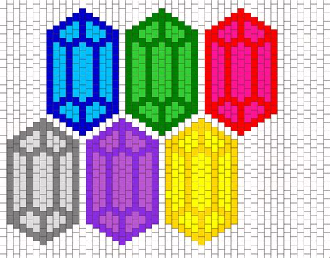 zelda rupee pattern rupee compilation bead pattern the legend of zelda