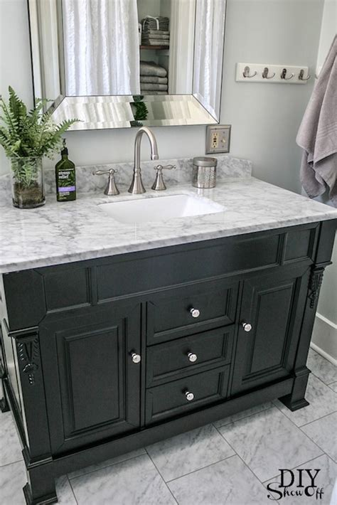 dark vanity bathroom ideas black washstand transitional bathroom valspar pale