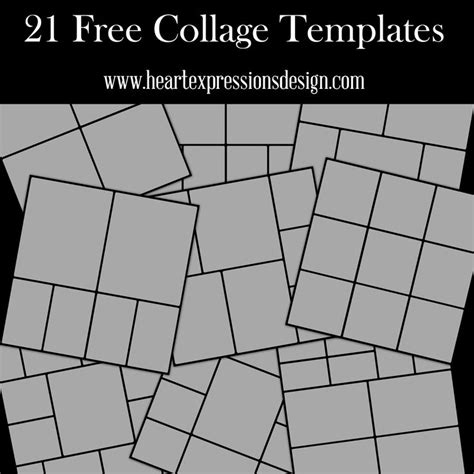 layout templates photoshop heart expressions design 21 free photoshop collage