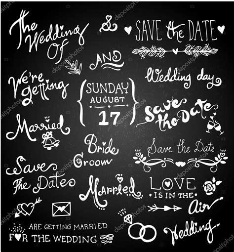 Wedding Background Chalkboard by Vintage Wedding Border On Chalkboard Background Stock