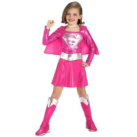 Kids Pink Super Girl Costume   $43.99   The Costume Land