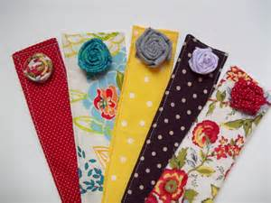Handmade Fabric Bookmarks - fabric flower bookmarks quiver of blessings