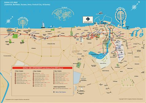 dubai on the map dubai hotels and appartments map