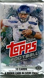 deck football cards value 2014 topps nfl football cards hobby pack
