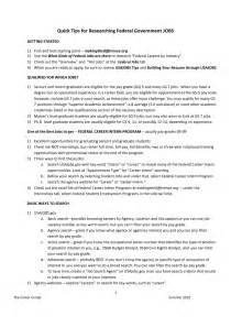 exles of resumes professional federal resume format