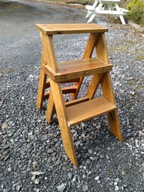 Folding Library Step Stool by Step Stool Chair Library Chair The Folding Ladder Back