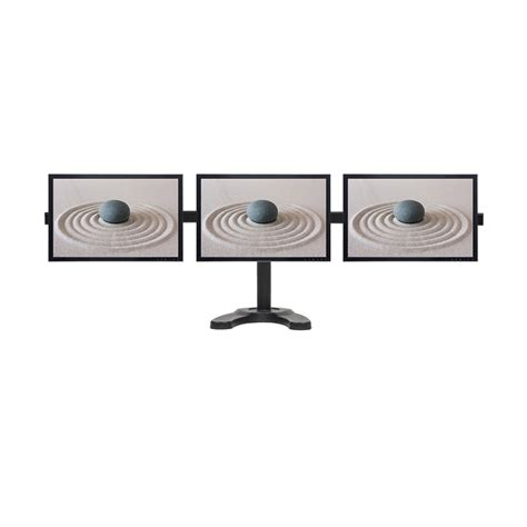 Triple Lcd 3 Monitor Stand Desk Mount Adjustable Curved Monitor Desk Stands