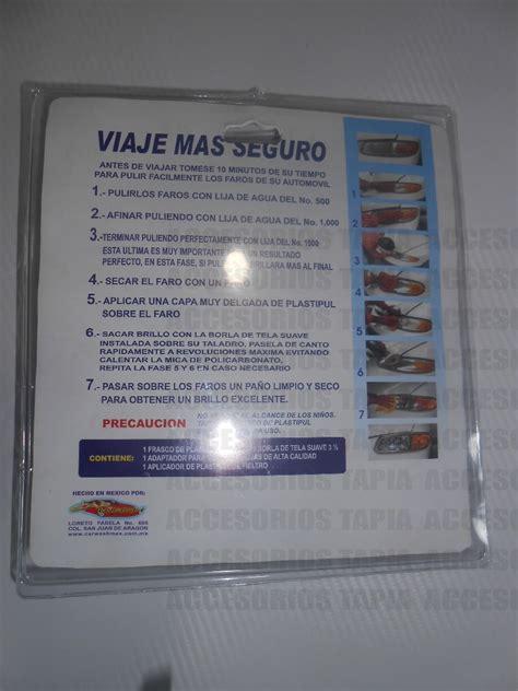 kit para pulir faros kit para pulir faros y calaveras opacas 155 00 en