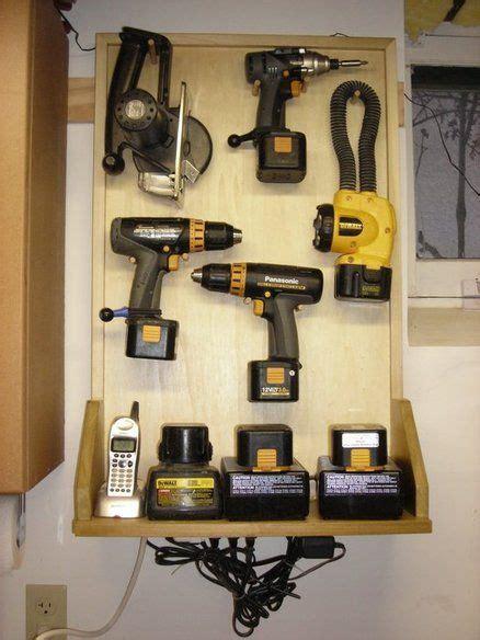 cordless tool charger station garage storage