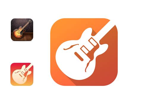 garage band ios 7 icon redesign by alex sadeck dribbble