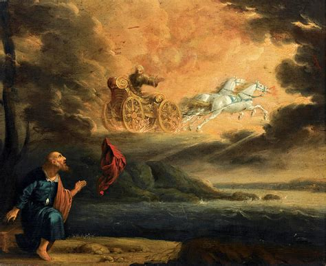 elijah and chariot of fire elijah taken up into heaven in the chariot of fire