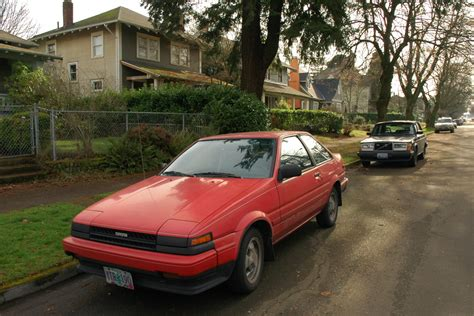classic corolla old parked cars 1986 toyota corolla gt s
