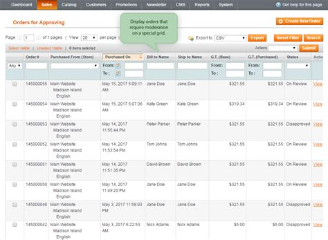 magento order approval extension easy fraud prevention