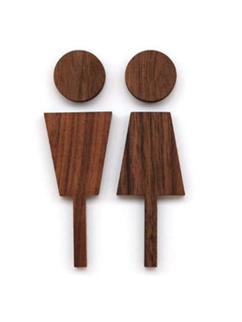 male female bathroom symbols love this toilet sign very elegant and classy walnut