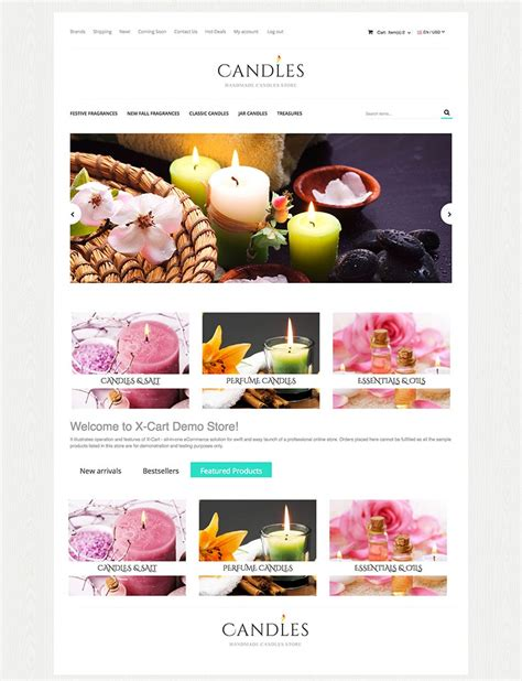 Candles X Cart Template 63577 X Cart Templates