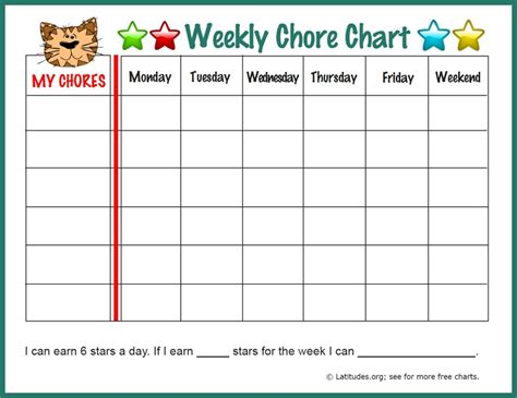 weekly chore chart 11 sle weekly chore chart template