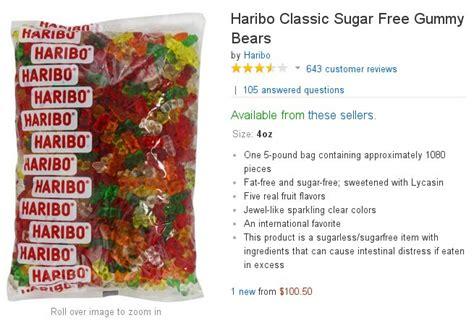 haribo sugar free gummy bears challenge send gummy bears to your representatives 171 the standard
