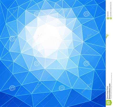 blue triangle pattern vector background abstract background stock photos image 35844833