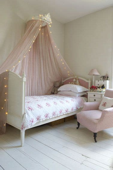 fairy lights kids bedroom girls room bed canopy sheer bed curtain ideas