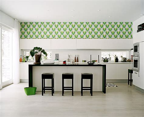 Washable Wallpaper For Kitchen Backsplash by Do You Have Wallpaper In Your Kitchen Popsugar Home