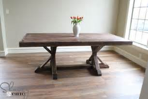 Building Plans Dining Room Table Restoration Hardware Inspired Dining Table For 110 Shanty 2 Chic