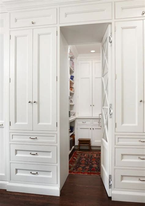 White Pantry Closet by Pantry Transitional Kitchen Duron Shell White
