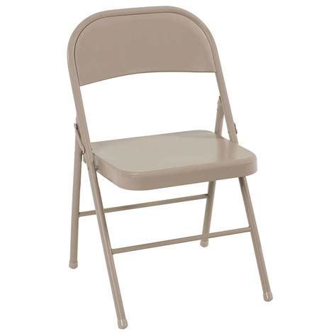 cosco antique linen  steel folding chairs  pack ante  home depot