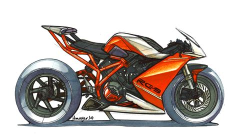 Ktm Rc9 Ktm Rc9 Marker Sketch By Jean Mayer Isd