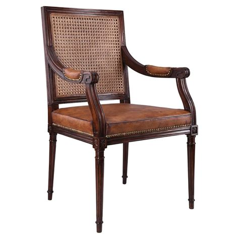 country armchairs vianne french country brown leather antique mahogany arm