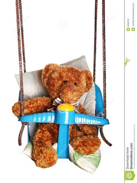swinging teddy teddy bear in swing royalty free stock image image 4630076