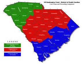 carolina lands map bankruptcy court divisions district of south carolina