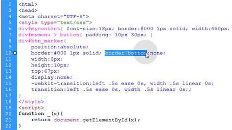 tutorial javascript button menu button marker animation tutorial javascript css html