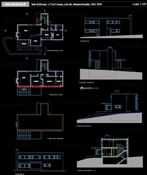 Pavilion Floor Plans j ford house 1939 di marcel breuer