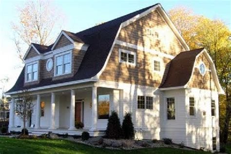 dutch colonial home plans gambrel roof line with porch no place like home pinterest